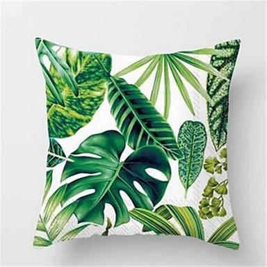 1Pcs Fashion Tropical Plant Sofa Cushion Peach Skin Pillow Cover