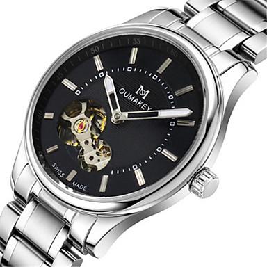Bărbați Ceas La Modă ceas mecanic Quartz Mecanism automat Calendar Rezistent la Apă Aliaj Bandă Argint