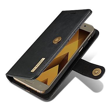 Maska Pentru Samsung Galaxy A5(2017) A3(2017) Portofel Titluar Card Cu Stand Întoarce Magnetic Corp Plin Culoare solidă Greu Piele