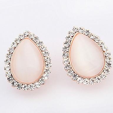 Dames Oorknopjes Druppel oorbellen Ring oorbellen Bergkristal Synthetische Opaal Gepersonaliseerde Uniek ontwerp Logostijl Klassiek