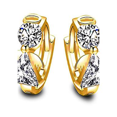 Damen Kreolen Synthetischer Diamant Kubikzirkonia Modisch vergoldet Flügel Schmuck Herzliche Glückwünsche Geschenk Alltag