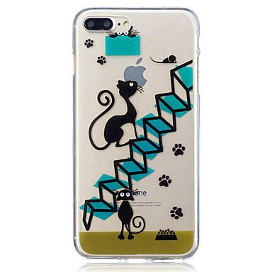 Hülle Für Apple iPhone 7 Plus iPhone 7 IMD Transparent Muster Rückseite Katze Weich TPU für iPhone 7 Plus iPhone 7 iPhone 6s Plus iPhone