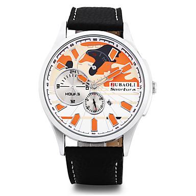 Bărbați Ceas La Modă Ceas de Mână Chineză Quartz Calendar Mare Dial Oțel inoxidabil Aliaj Bandă Cool Negru
