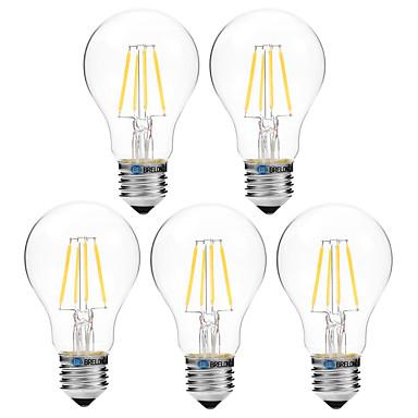 BRELONG® 5pcs 4W 300 lm مصابيحLED A60(A19) 4 الأضواء COB تخفيت أبيض دافئ أبيض أس 200-240V