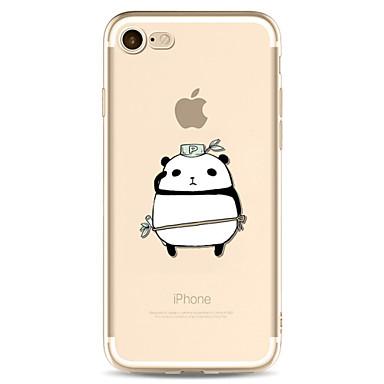 Hülle Für Apple Transparent Muster Rückseitenabdeckung Panda Cartoon Design Weich TPU für iPhone 7 plus iPhone 7 iPhone 6s Plus iPhone 6