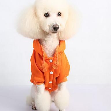 Hond Sweatshirt Hondenkleding Casual/Dagelijks Effen Zwart Oranje Grijs Rood