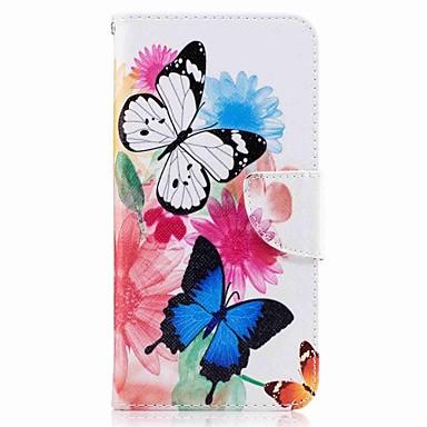 Für huawei p10 plus p10 lite Fallabdeckungs-Kartenhalter-Mappe mit Standplatz-Flipmusterkasten volles Körperkasten-Schmetterling hartes