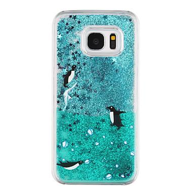 غطاء من أجل Samsung Galaxy S8 Plus S8 سائل متدفق شفاف نموذج غطاء خلفي شفاف كارتون بريق لماع قاسي PC إلى S8 S8 Plus S7 edge S7