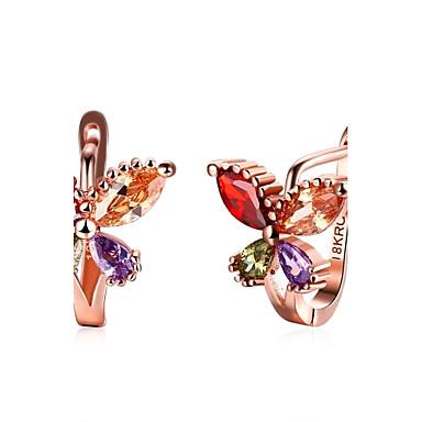 Pentru femei Cercei Picătură Cercei Rotunzi  Cristal Ștras Zirconiu Cubic Personalizat Lux Design Circular Γεωμετρικά Design Unic Stil