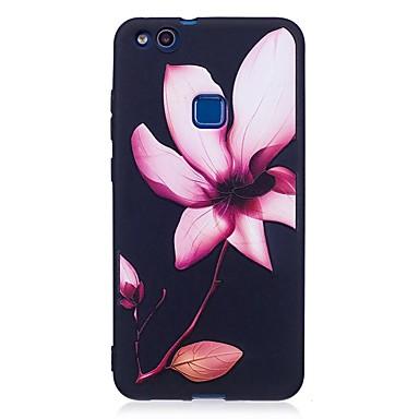 Voor huawei p10 lite p9 lite case cover bloem patroon reliëf back cover soft tpu p8 lite 2017
