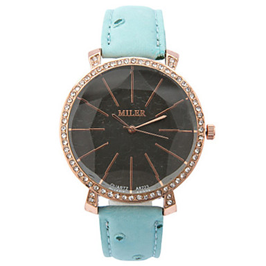 Dames Modieus horloge Kwarts PU Band Blauw Rood Orange