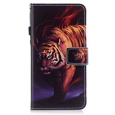 Voor iPhone X iPhone 8 Hoesje cover Kaarthouder Portemonnee met standaard Flip Patroon Magnetisch Volledige behuizing hoesje dier Hard