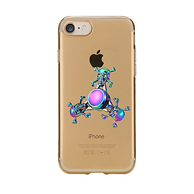 Hülle Für Apple iPhone 7 Plus iPhone 7 Handkreisel Muster Fidget Hand Spinner Rückseite Cartoon Design Weich TPU für iPhone 7 Plus iPhone