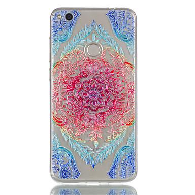 Voor huawei p8 lite (2017) p9 lite telefoon hoesje tpu materiaal kant bloemen patroon reliëf telefoon hoesje p8 lite