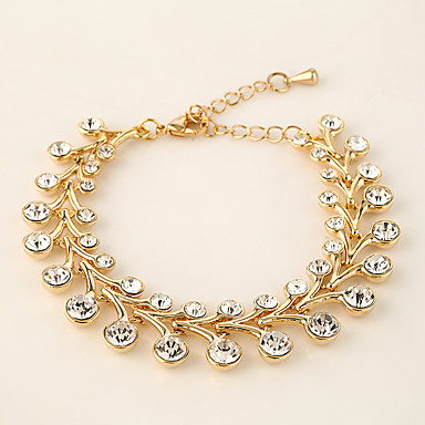 Dames Armbanden met ketting en sluiting Sieraden Vintage Natuur Modieus Met de Hand Gemaakt Strass Legering Ronde vorm Sieraden Voor