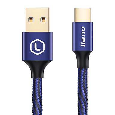 Type-C Gevlochten Verguld Snelle kosten Kabel Voor Samsung Huawei Sony Nokia HTC Motorola LG Lenovo Xiaomi cm Aluminium Nylon