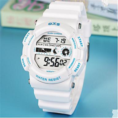 Heren Modieus horloge Chinees Digitaal Rubber Band Informeel Wit