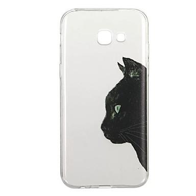 Maska Pentru Samsung Galaxy A5(2017) A3(2017) Model Carcasă Spate Pisica Animal Moale TPU pentru A3 (2017) A5 (2017) A5(2016) A3(2016)