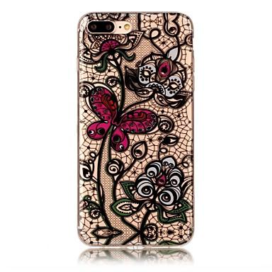 Pentru iphone 7 7 plus copertă de caz transparent model de spate acoperire caz fluture soft tpu pentru iphone 6s 6 plus 6s 6 se 5s 5 5c