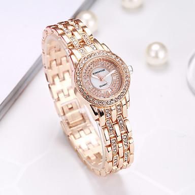 KINGNUOS Damen Einzigartige kreative Uhr Armbanduhr Modeuhr Armbanduhren für den Alltag Quartz Schlussverkauf Legierung Band Charme Luxus