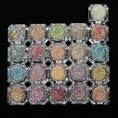 26pcs/set Glitter de unghii Pulbere cu sclipici Pudră Elegant & Luxos Glitter de unghii Strălucitor & Sclipitor Nail Art Design