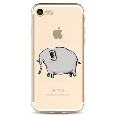Maska Pentru Apple Transparent Model Carcasă Spate Elefant Desene Animate Moale TPU pentru iPhone 7 Plus iPhone 7 iPhone 6s Plus iPhone 6