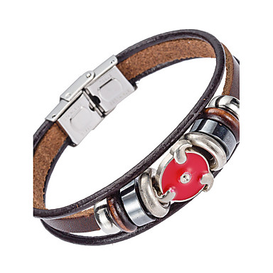 Heren Lederen armbanden Sieraden Natuur Modieus Leder Legering epäsäännöllinen Sieraden Speciale gelegenheden Lahja Sport