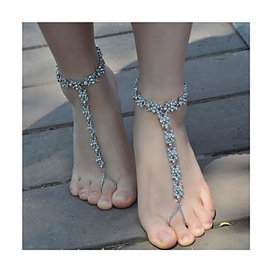 Dames Enkelring/Armbanden Imitatieparel Strass Legering Modieus Bloemvorm Sieraden Voor Dagelijks Causaal 1 stuks