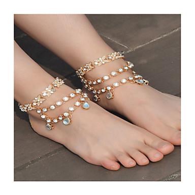 Dames Enkelring / Armbanden Imitatieparel Strass Legering Modieus Blote voeten sandalen Strikvorm Sieraden Voor Dagelijks Causaal