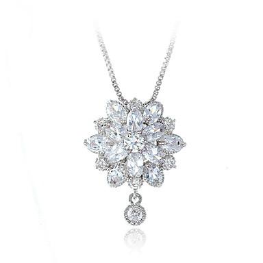 Pentru femei Coliere cu Pandativ Bijuterii Flower Shape Bijuterii Cristal Aliaj Design Unic Modă Euramerican Bijuterii Pentru Nuntă