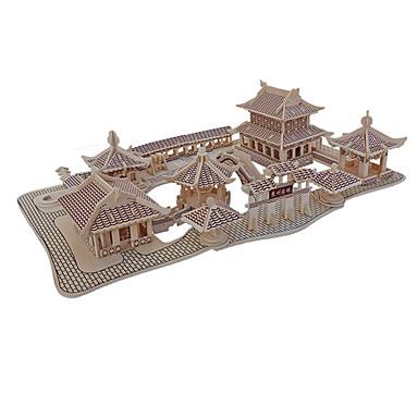 بانوراما الألغاز قطع تركيب3D اللبنات DIY اللعب معمارية خشب ألعاب البناء و التركيب