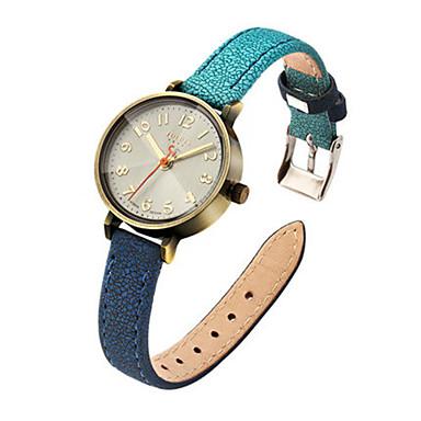 Dames Modieus horloge Japans Kwarts Waterbestendig Leer Band Informeel Blauw Rood Grijs Kaki