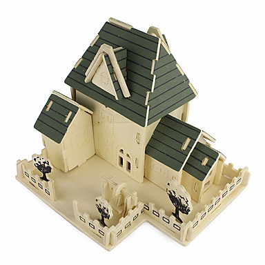 Legpuzzels 3D-puzzels Bouw blokken DHZ-speelgoed Architectuur Hout Modelbouw & constructiespeelgoed