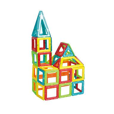 مكعبات مغناطيسية أحجار البناء مجموعات البناء 30pcs مربع مثلث مغناطيس فتيات صبيان ألعاب هدية