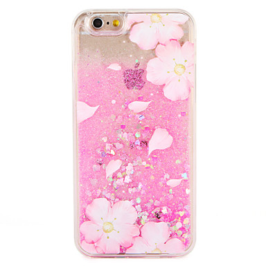 hoesje Voor Apple iPhone 7 Plus iPhone 7 Stromende vloeistof Patroon Achterkant Bloem Glitterglans Hard PC voor iPhone 7 Plus iPhone 7