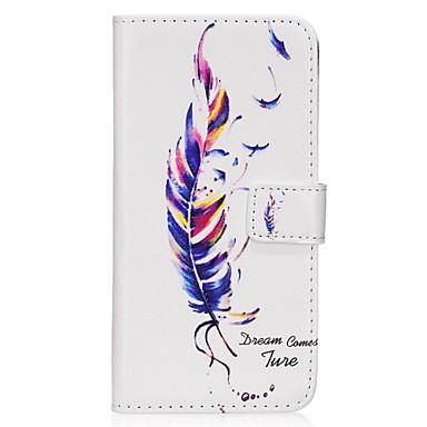 Hülle Für Samsung Galaxy S8 Plus S8 Kreditkartenfächer Geldbeutel mit Halterung Flipbare Hülle Magnetisch Muster Ganzkörper-Gehäuse Feder