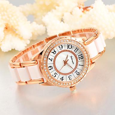 Damen Armbanduhr Kreativ / Cool Legierung / Plastic Band Charme / Luxus / Freizeit Weiß