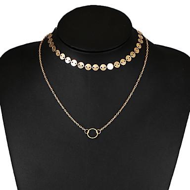 Pentru femei Coliere Choker - Design Unic Euramerican Circle Shape Auriu Argintiu Coliere Pentru Nuntă Petrecere Zilnic Casual