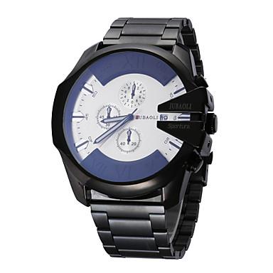 JUBAOLI Bărbați Ceas de Mână Ceas La Modă Ceas Sport Ceas Casual Chineză Quartz Calendar Mare Dial Zone Duale de Timp  Oțel inoxidabil