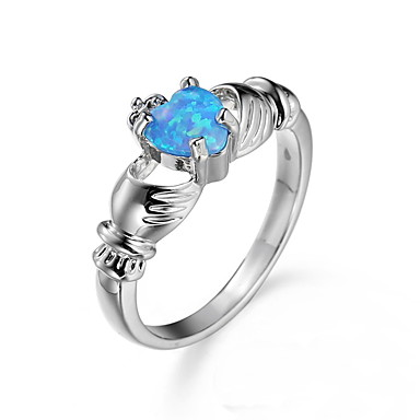 Dames Kubieke Zirkonia Zirkonia Legering Ring - Anderen Uniek ontwerp Euramerican Modieus Blauw Ring Voor Feest Vuosipäivä Verjaardag