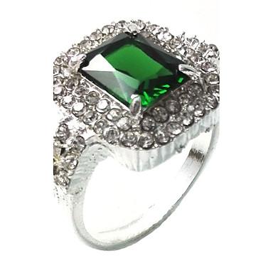 للرجال خاتم الاصطناعية الزمرد تصميم فريد موضة euramerican في زمردي سبيكة مجوهرات مجوهرات من أجل زفاف مناسبة خاصة الذكرى السنوية