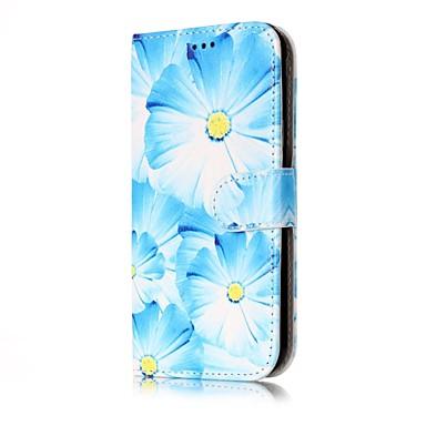 Maska Pentru Samsung Galaxy J7 (2016) J5 (2016) Portofel Titluar Card Cu Stand Întoarce Corp Plin Floare Greu PU Piele pentru J7 (2016)