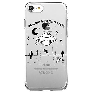 Pentru iphone 7 plus 7 caz acoperă eco-friendly transparent model spate acoperire caz desen animat cuvânt / frază soft tpu pentru iphone
