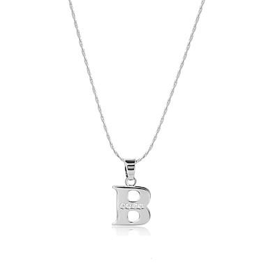 Bărbați Pentru femei Alphabet Shape Stil Logo Boem Bijuterii Statement SUA Confecționat Manual Balanța de putere Coliere cu Pandativ