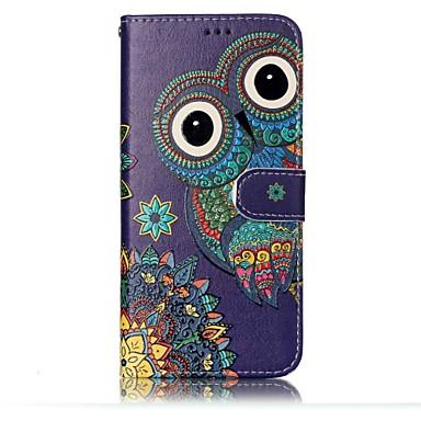Maska Pentru Samsung Galaxy S8 Plus S8 Titluar Card Portofel Cu Stand Întoarce Model Embosat Carcasă Telefon Bufniţă Greu PU piele pentru