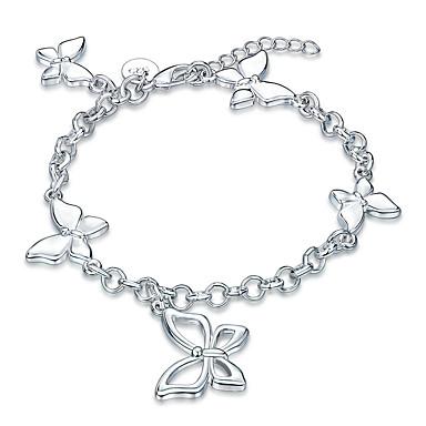 Dames Meisjes Armbanden met ketting en sluiting Kristal Vintage Vriendschap Modieus Rock Punk Verzilverd Strikvorm Sieraden Kerstcadeaus