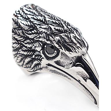 للرجال خاتم مكعب زركونيا تصميم الحيوانات كلاسيكي بيان المجوهرات الفولاذ المقاوم للصدأ عصفور مجوهرات هدايا عيد الميلاد الهالووين هدية