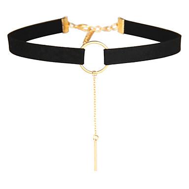 Pentru femei Coliere Choker Bijuterii Bijuterii Piele Aliaj La modă Euramerican Bijuterii Pentru Petrecere Ocazie specială 1 buc