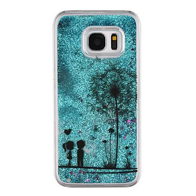 Hülle Für Samsung Galaxy S8 Plus S8 Mit Flüssigkeit befüllt Transparent Muster Rückseite Durchsichtig Löwenzahn Glänzender Schein Hart PC