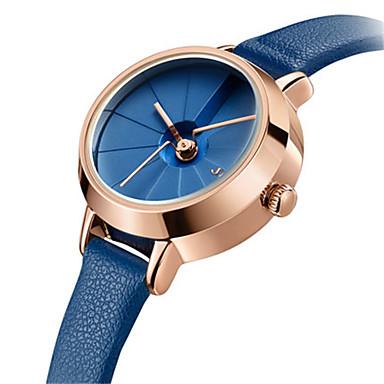 Dames Modieus horloge Japans Kwarts Waterbestendig Leer Band Informeel Zwart Wit Blauw Bruin Roze